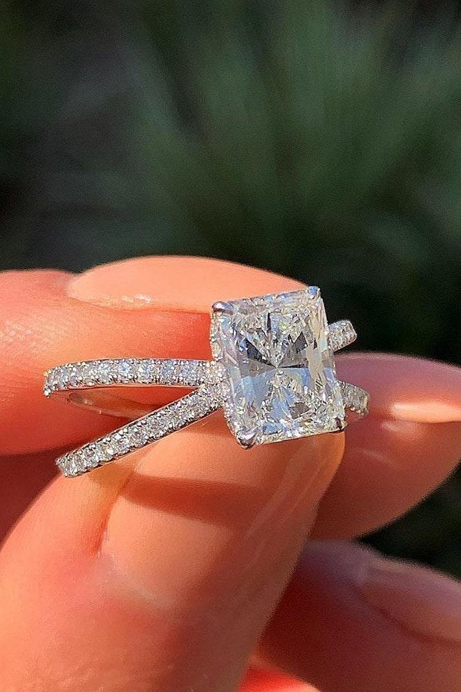 diamond engagement rings white gold engagement rings solitaire engagement rings pave band
