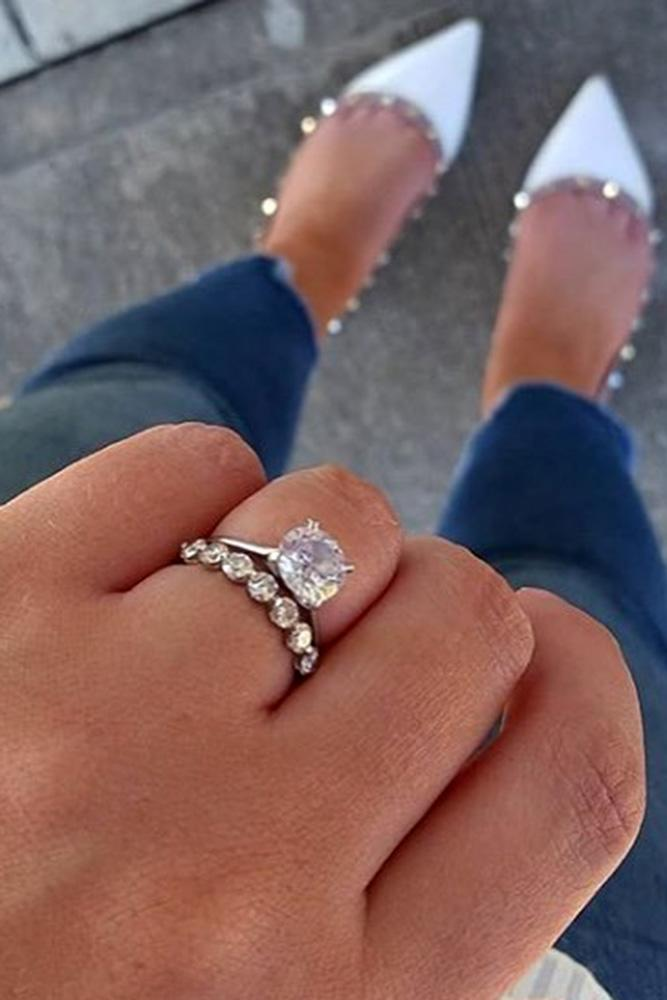 Engagement Ring And Wedding Band.30 Uncommonly Beautiful Diamond Wedding Rings Oh So