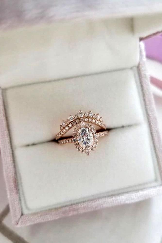 oval cut engagement rings rose gold engagement rings vintage engagement rings wedding ring sets ring boxes
