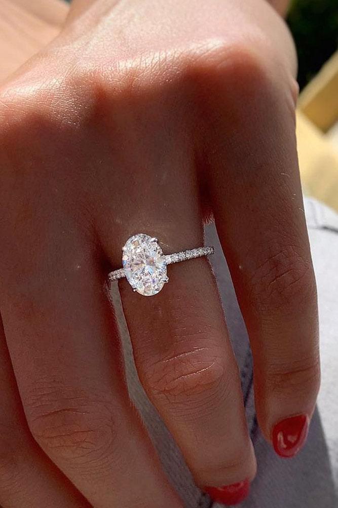 oval engagement rings diamond engagement rings white gold engagement rings solitaire engagement rings