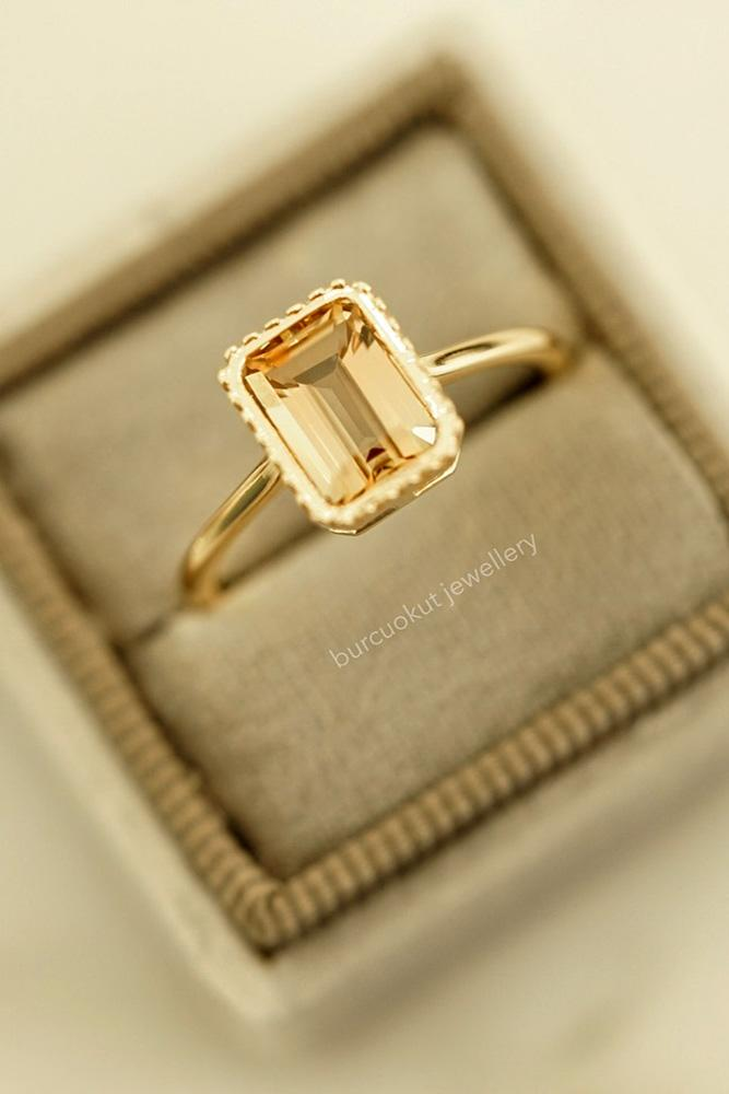 rose gold engagement rings colored engagement rings turmaline engagement rings emerald cut engagement rings ring boxes