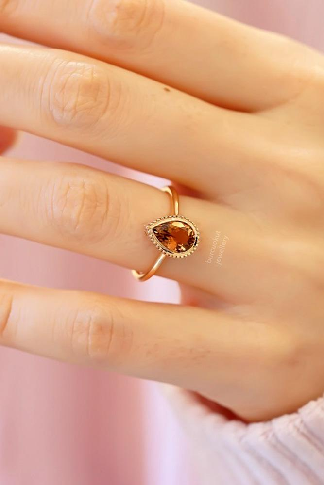rose gold engagement rings colored engagement rings turmaline engagement rings pear shaped engagement rings