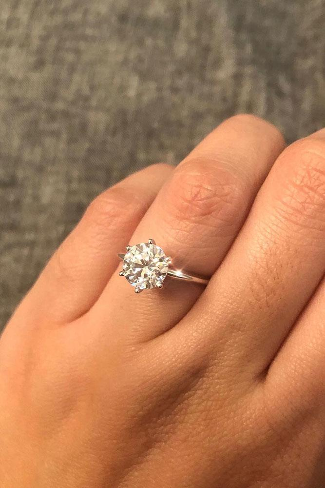 round engagement rings simple engagement rings white gold engagement rings diamond rings