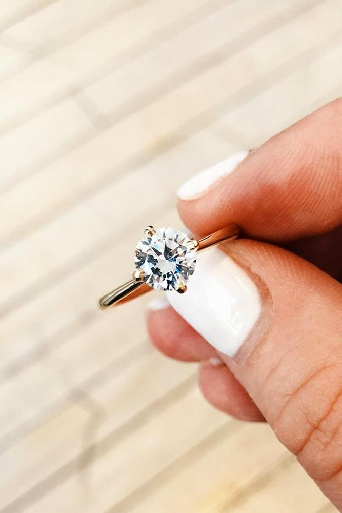 round engagement rings solitaire engagement rings white gold engagement rings diamond rings