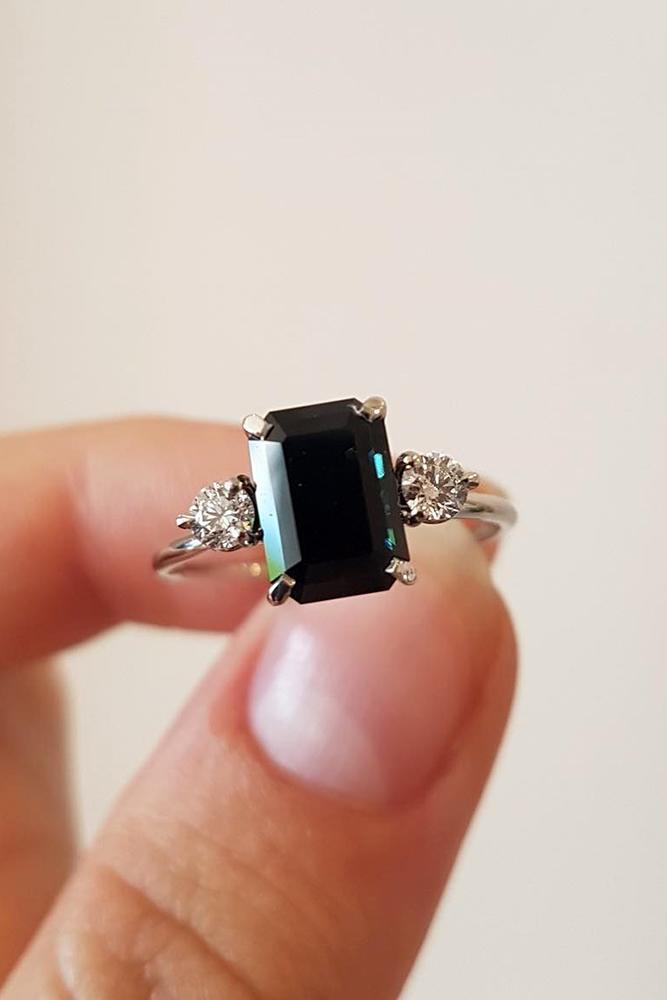 sapphire engagement rings emerald cut sapphire engagement rings white gold engagement rings three stone sapphire rings