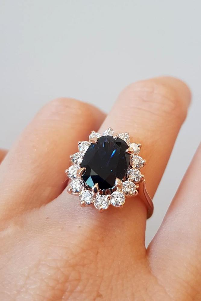 sapphire engagement rings oval cut sapphire engagement rings rose gold engagement rings halo rings