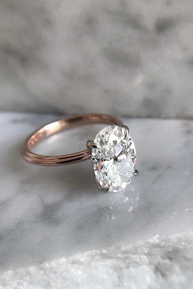 simple engagement rings classic engagement rings oval cut engagement rings rose gold engagement rings