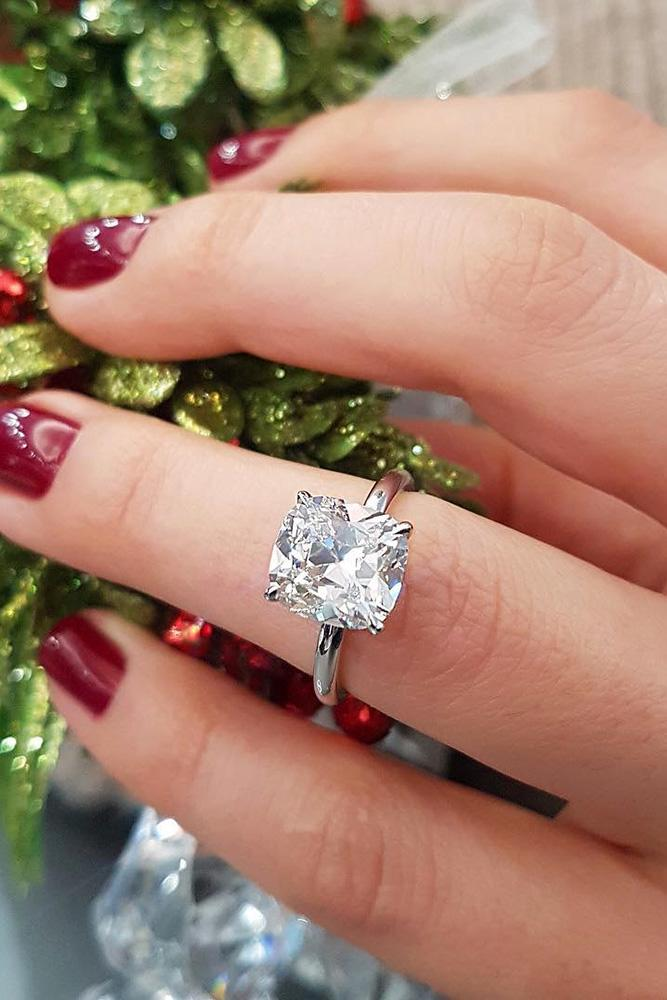 simple engagement rings cushion cut engagement rings diamond engagement rings white gold engagement rings