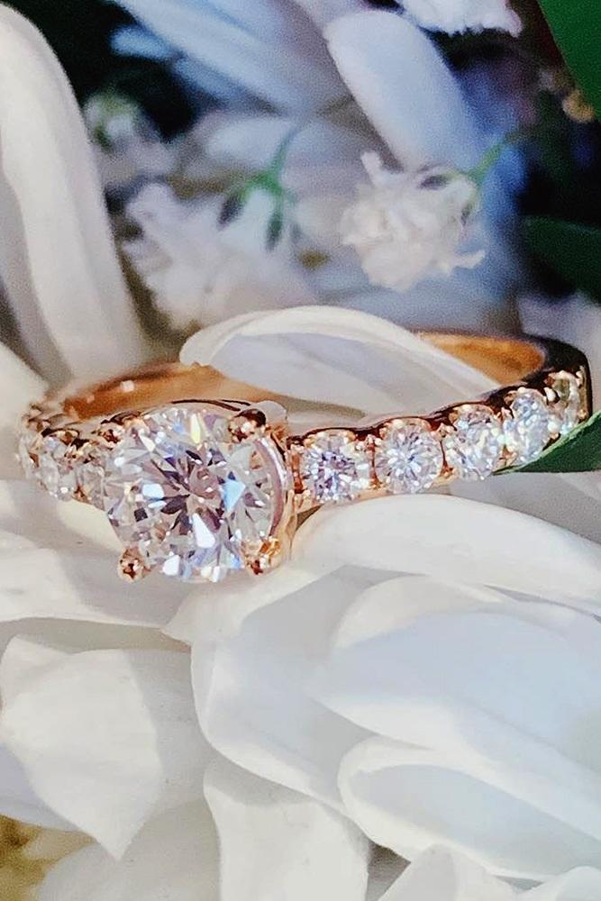 simple engagement rings round engagement rings diamond engagement rings rose gold engagement rings