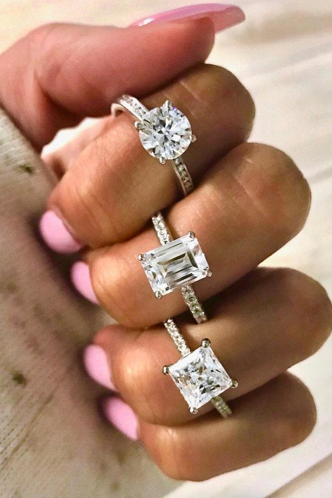 simple engagement rings white gold engagement rings best rings classic rings pave band