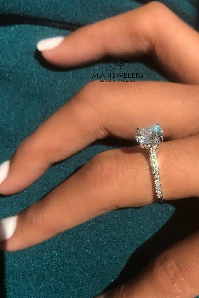 solitaire engagement rings diamond engagement rings white gold engagement rings round engagement rings