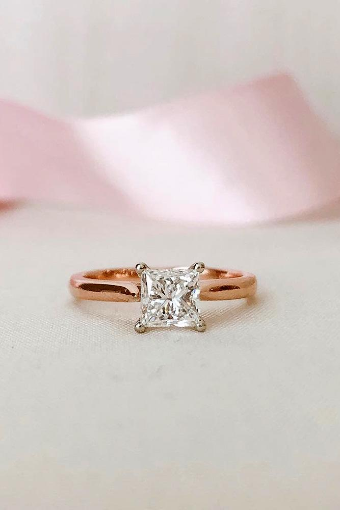 solitaire engagement rings princess cut engagement rings diamond engament rings rose gold engagement rings best rings
