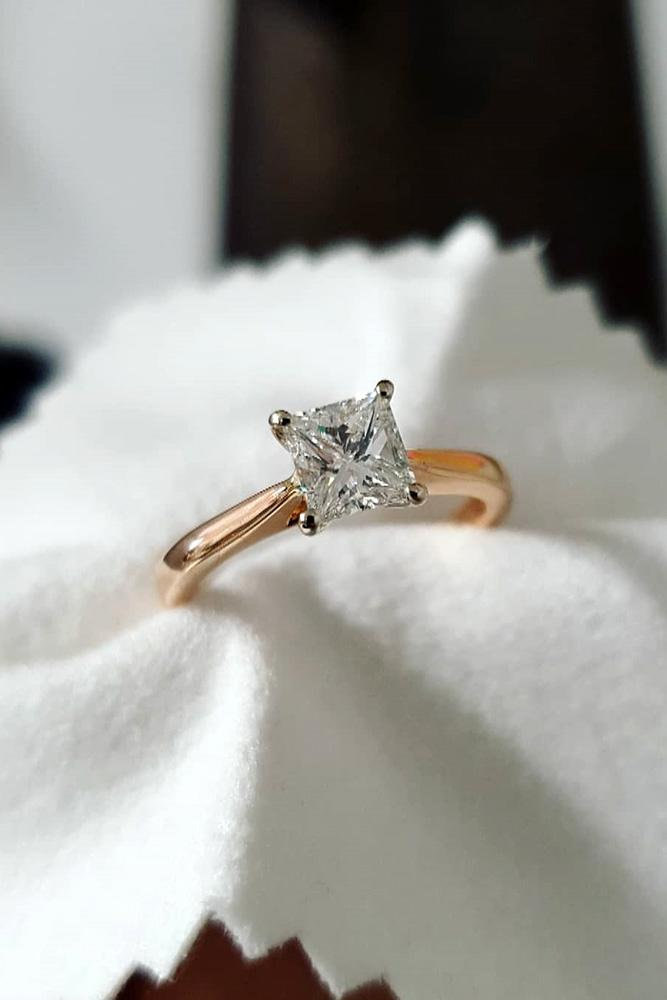 solitaire engagement rings princess cut engagement rings diamond engament rings rose gold engagement rings