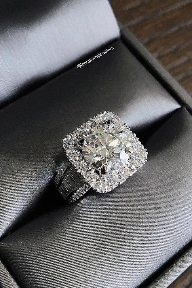 unique engagement rings diamond engagement rings halo rings