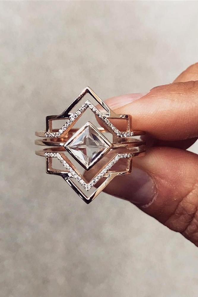 unique engagement rings diamond engagement rings rose gold engagement rings beautiful engagement rings princess cut diamond ring