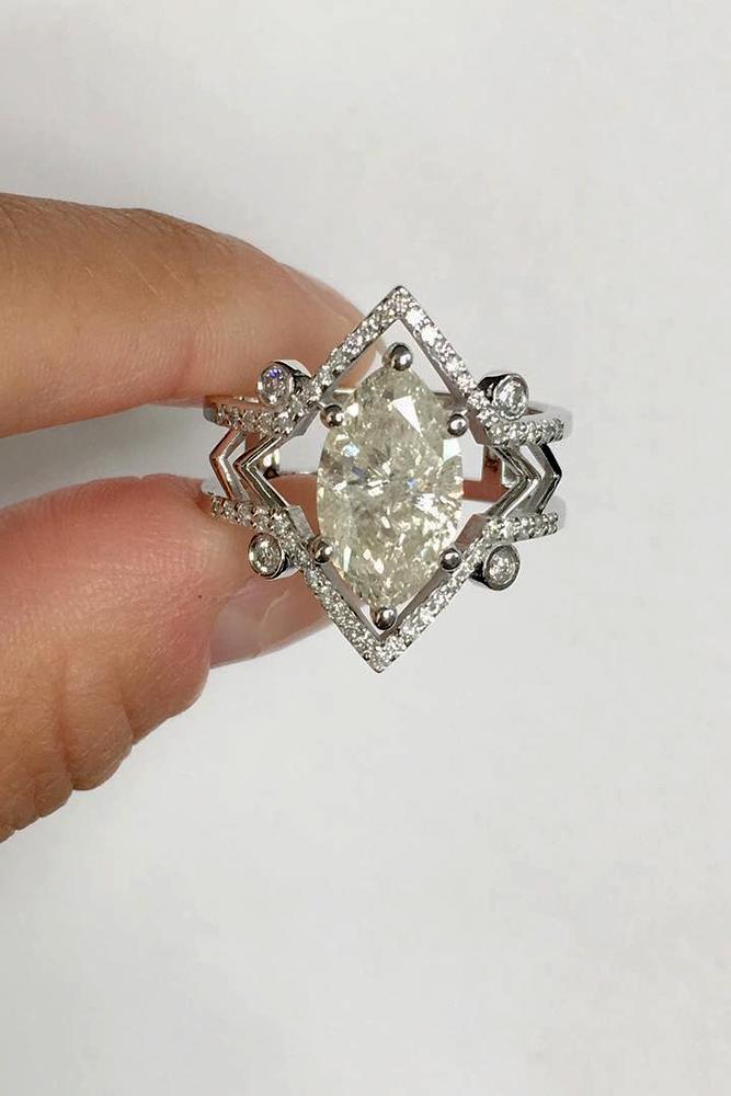 unique engagement rings diamond engagement rings white gold engagement rings marquise cut engagement rings