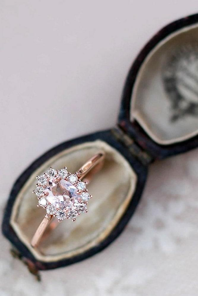 unique engagement rings rose gold enagagement rings ring boxes oval cut engagement rings