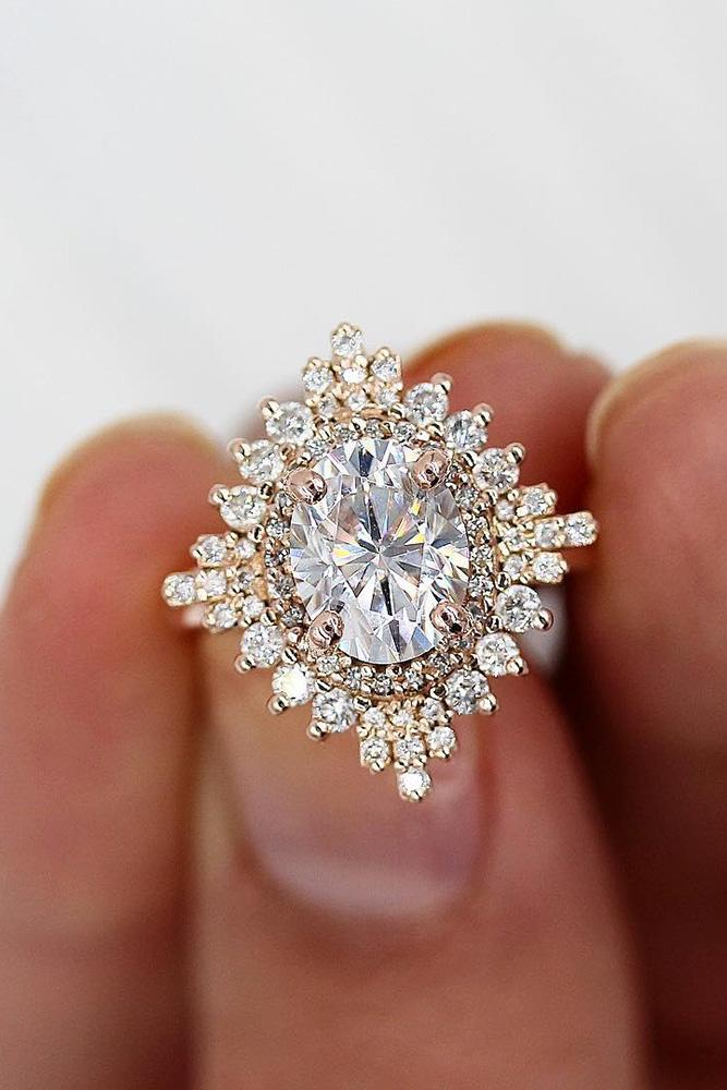 unique engagement rings rose gold engagement rings best engagement rings moissanite engagement rings halo rings