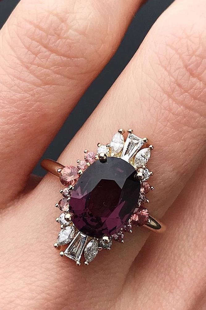 unique engagement rings rose gold engagement rings gemstone engagement rings unique engagement rings