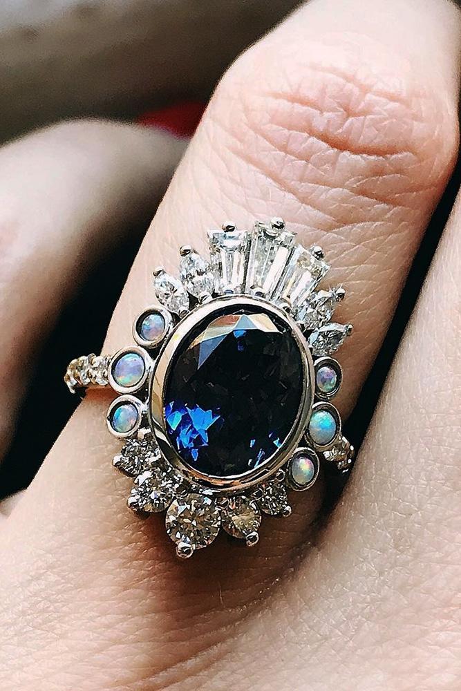 unique engagement rings sapphire engagement rings white gold engagement rings oval cut engagement rings