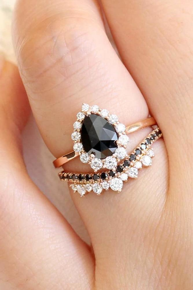 unique wedding rings black diamond wedding rings rose gold engagement rings diamond rings