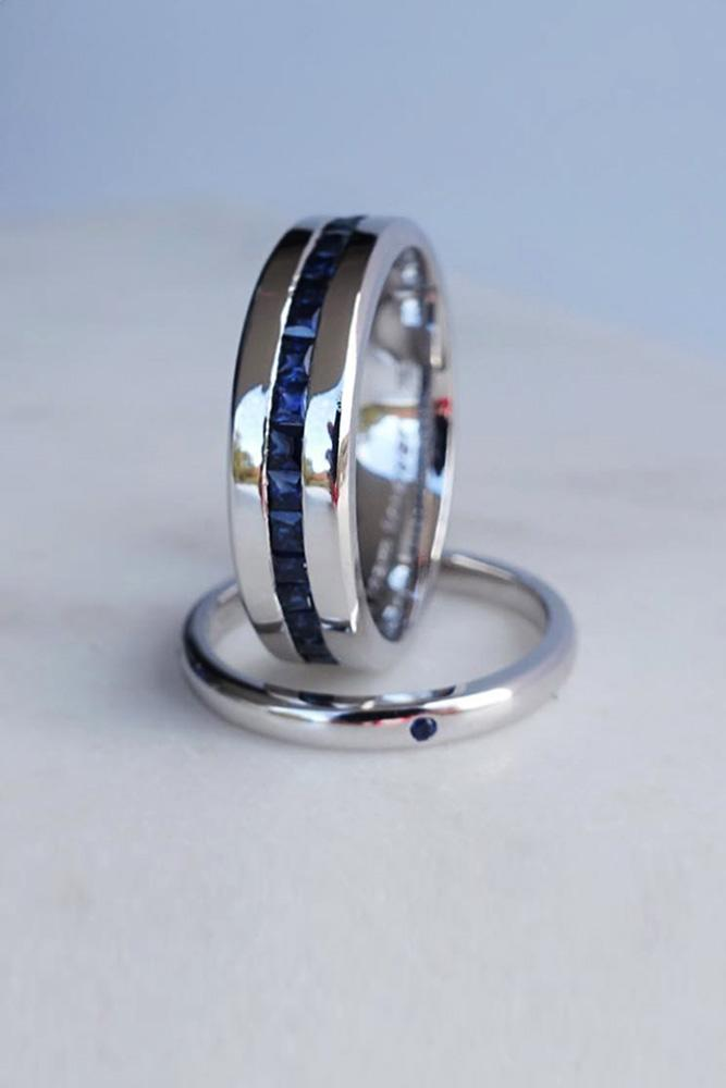 unique wedding rings wedding bands white gold wedding bands gemstone wedding bands for him and for her