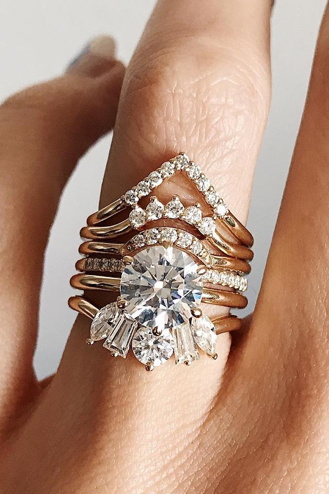 wedding ring sets unique engagement rings diamond wedding ring rose gold engagement rings