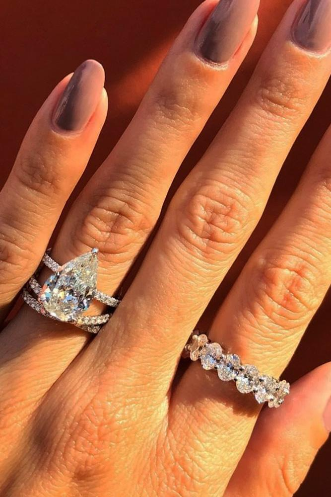 wedding ring sets white gold engagement rings diamond engagement rings pear shaped engagement rings beautiful rings best rings
