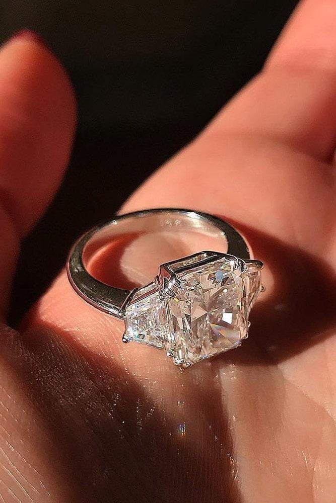 white gold engagement rings diamond engagement rings emerald cut engagement rings best rings three stone rings