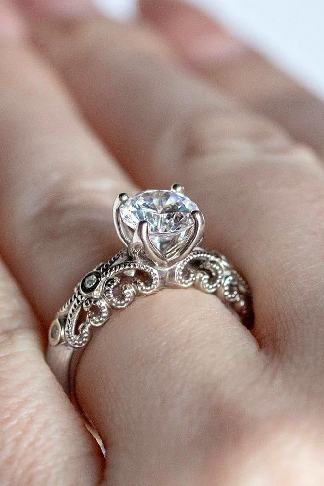 white gold engagement rings diamond engagement rings round cut engagement rings diamond engagement rings unique rings