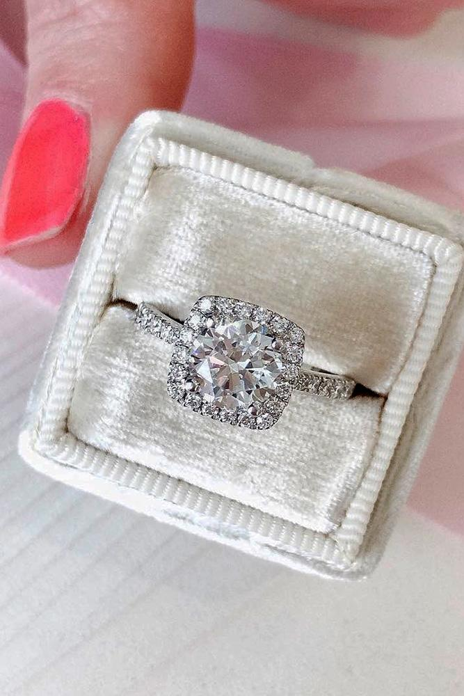 white gold engagement rings diamond engagement rings round cut engagement rings halo engagement rings beautiful engagement rings