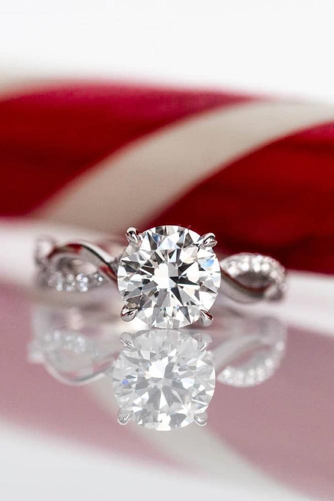 white gold engagement rings diamond engagement rings round diamond engagement rings twisted bands