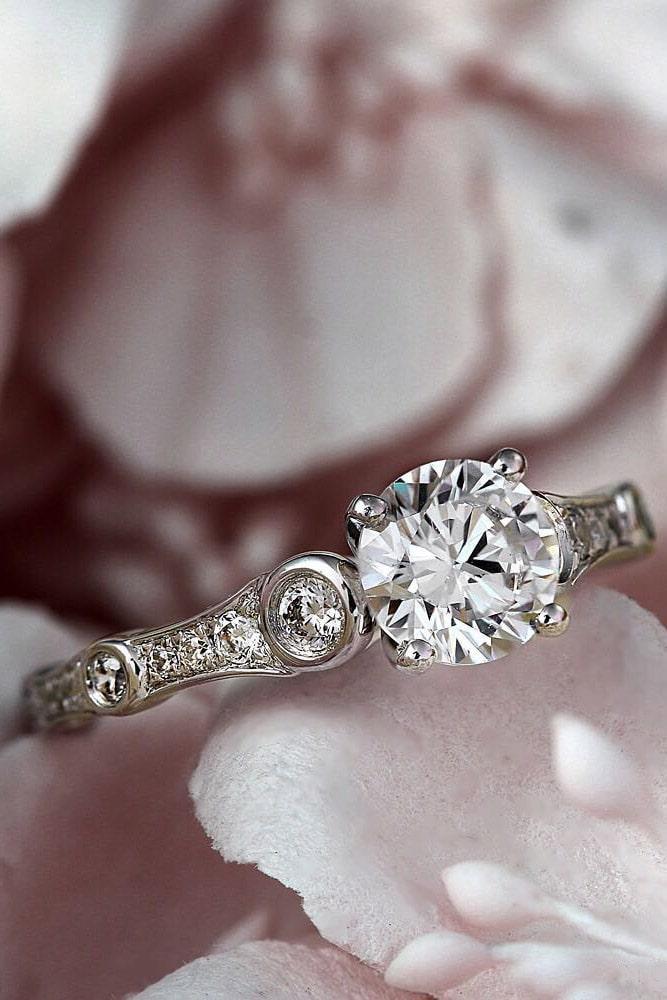 white gold engagement rings diamond engagement rings round engagement rings best rings