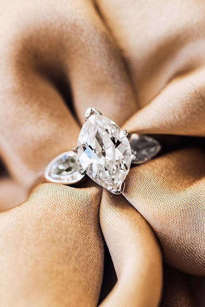 white gold engagement rings marquise cut engagement rings classic rings three stone engagement rings