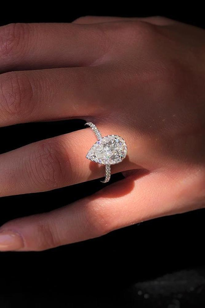 white gold engagement rings pear shaped engagement rings diamond engagement rings halo engagement rings
