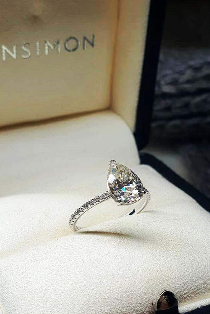 white gold engagement rings pear shaped engagement rings diamond engagement rings simple engagement rings