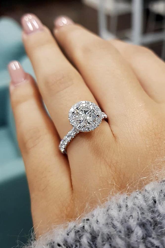 white gold engagement rings round diamond engagement rings diamond engagement rings halo engagement rings