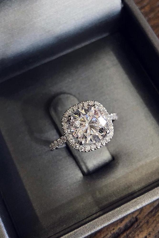 white gold engagement rings round diamond engagement rings halo engagement rings ring boxes