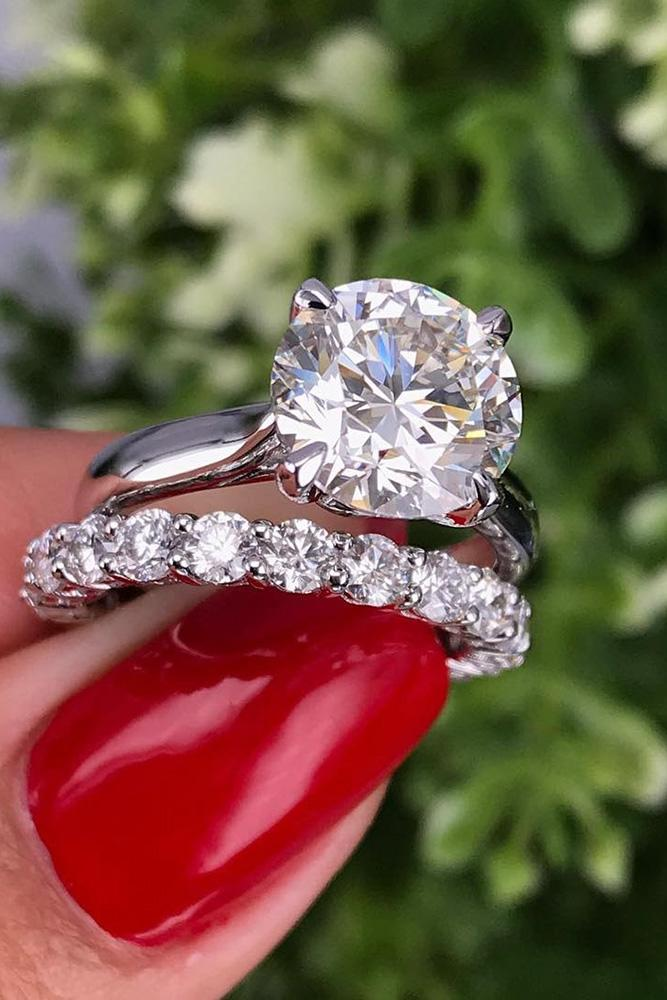 white gold engagement rings solitaire engagement rings diamond engagement rings wedding ring sets