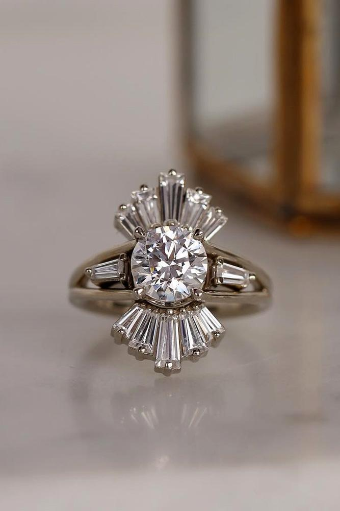 white gold engagement ring unique engagement rings diamond engagement rings round engagement rings split shank best rings