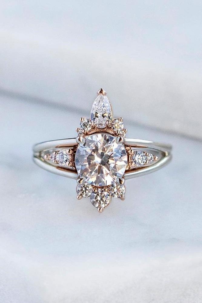 white gold engagement ring unique engagement rings diamond engagement rings round engagement rings split shank