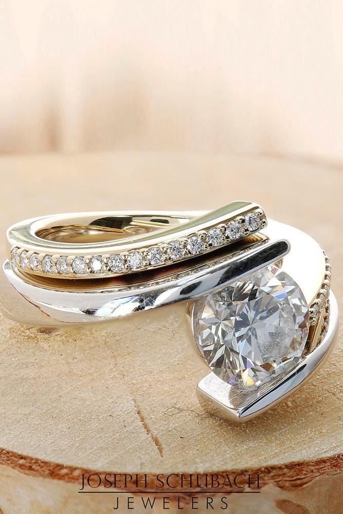 anniversary rings unique anniversary rings white gold engagement rings princess cut split shank engagement rings