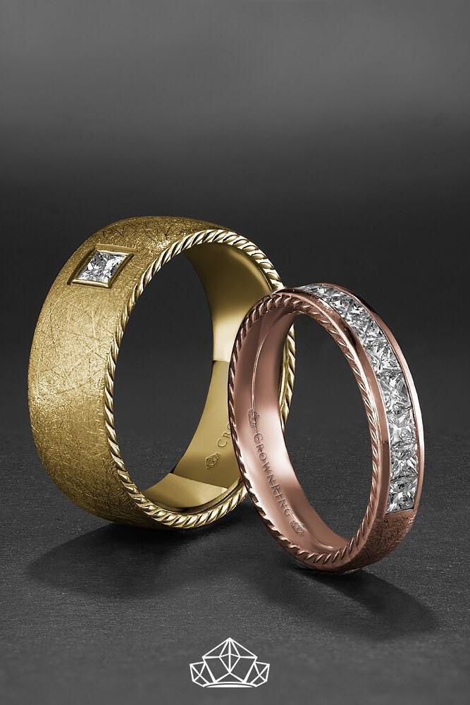 matching wedding bands two tone wedding bands unique wedding bands diamond wedding bands unique bridal sets