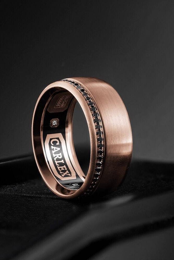 mens wedding bands black diamond engagement rings rose gold wedding rings wedding bands round black diamond rings