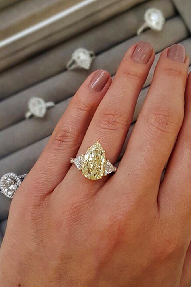 diamond engagement rings yellow diamond engagement rings white gold engagement rings pear shaped rings
