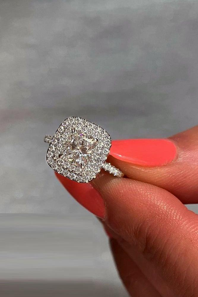 diamond engagement rings double halo engagement rings round diamond engagement rings white gold engagement rings