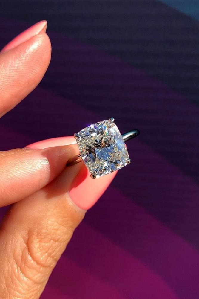 diamond engagement rings white gold engagement rings cushion cut engagement rings simple rings solitaire rings