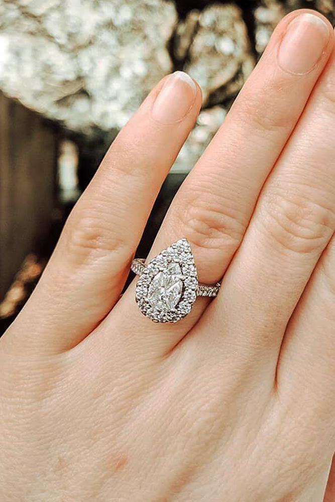 diamond engagement rings white gold engagement rings halo engagement rings pear shaped engagement rings