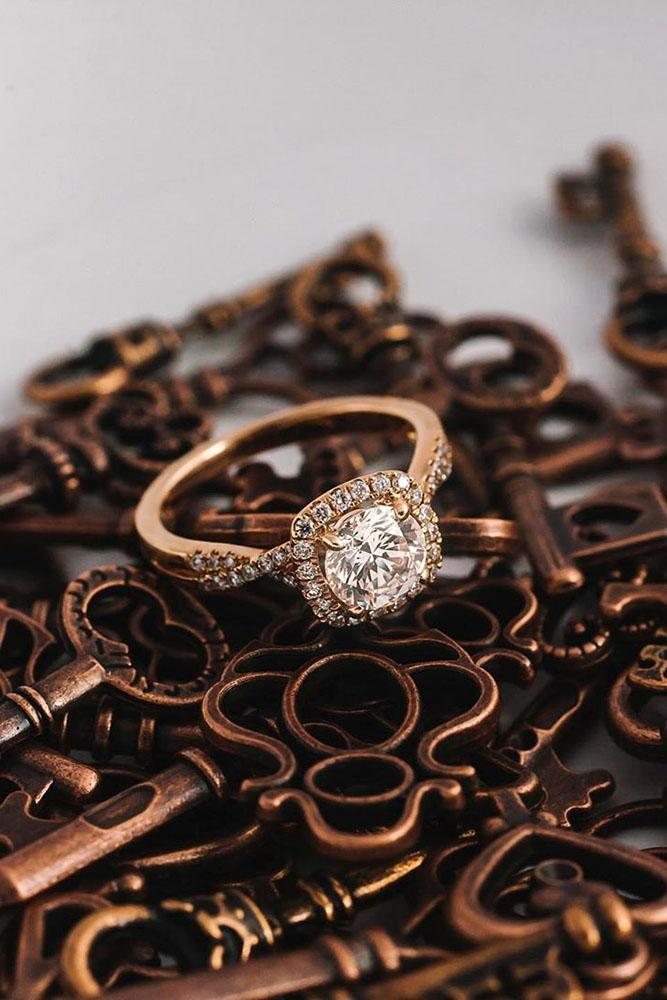 ring trends rose gold engagement rings round cut engagement rings halo rings diamond engagement rings