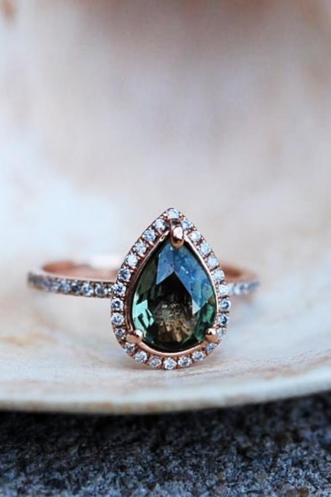 sapphire engagement rings rose gold engagement rings pear shaped engagement rings diamond halo engagement rings pave band